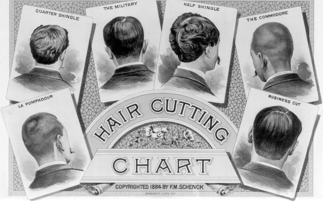 Hair Cutting Chart from 1884